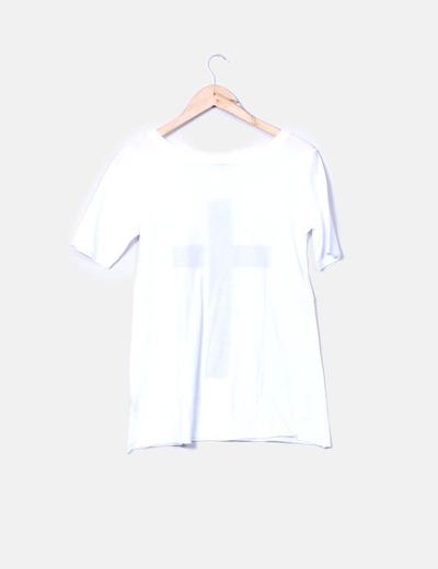 Camiseta blanca print cross