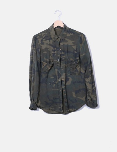 Camisa estampado camuflaje Zara