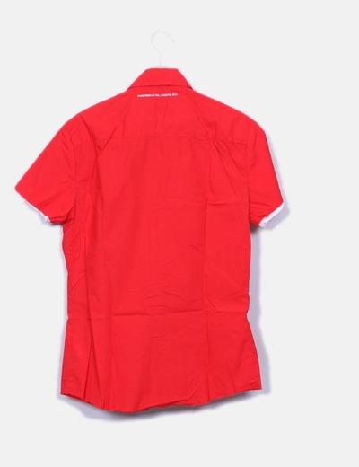 Camisa roja slim fit