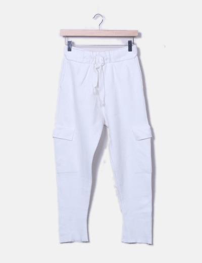 Pantalons tricot blanc Zara
