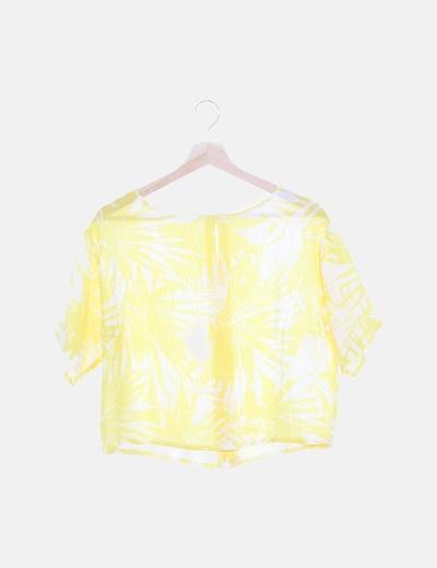Blusa tropical amarilla