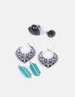 Conjunto de pendientes y anillos NoName