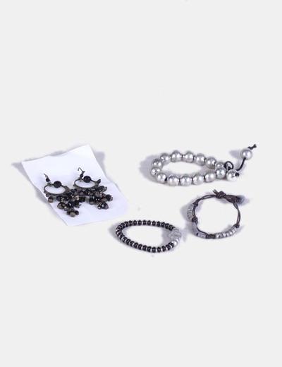 Conjunto de pulseras y y pendientes NoName