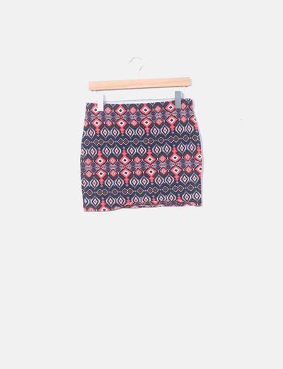 Mini falda elástica  étnica C&A