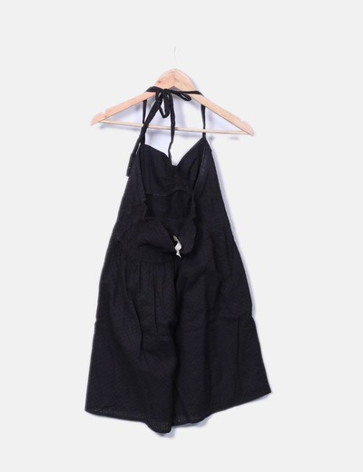 Vestido negro crochet