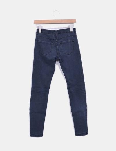 Jeans denim pitillo elastico