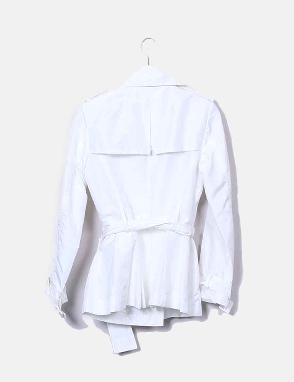 0847b570ef5 Abotonada De Baratos Gabardina Online Zara Chaquetas Mujer Blanca 8Ewdzq8
