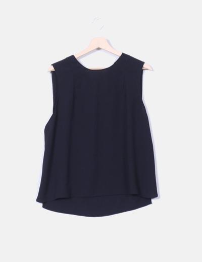 e8aad3a0a5613 Zara Blusa negra basica sin mangas (descuento 79%) - Micolet