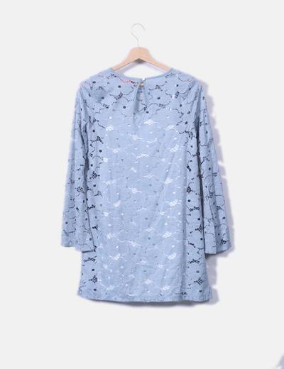 Vestido azul crochet