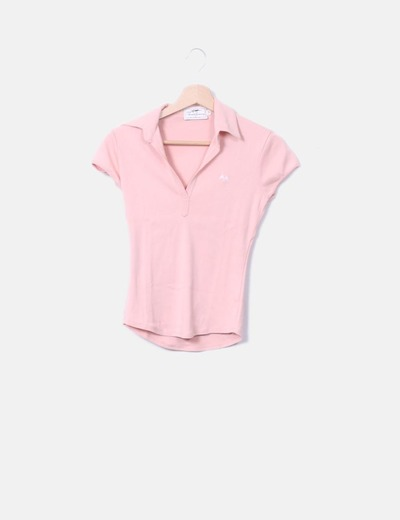 Pink polo shirt with shorts sleeves Thomas Burberry