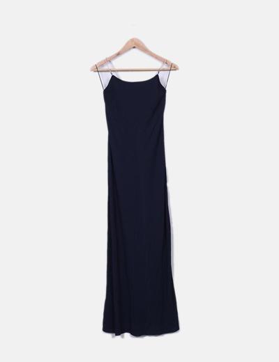 Robe bleu marine maxi Moschino