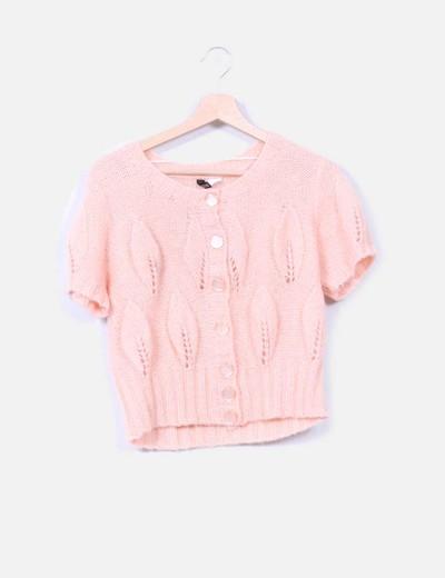 Jersey punto rosa palo H&M