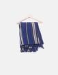 Maxi pañuelo azul marino de rayas Massimo Dutti