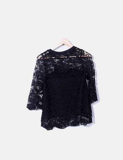 c620f980c598 Camiseta encaje negra