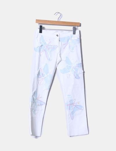 Pantalón blanco con lentejuelas EXÉ