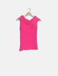 Camiseta tricot rosa flúor Promod