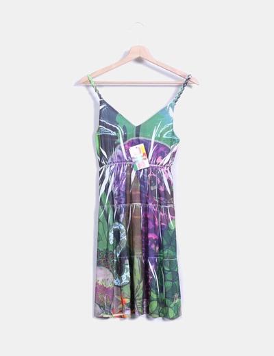 Vestido de gasa multicolor  Desigual