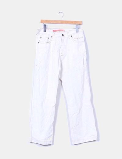 Pantalón beige de algodón Richard  Davis