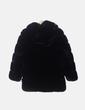 Chaquetón de pelo negro con capucha NoName