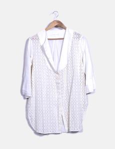 Camisa branca com uma manga francesa COS 1143684cfd5