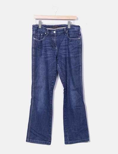 Jeans denim azul oscuro recto