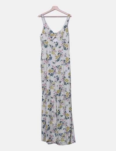 Mono largo beige floral Zara