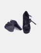 Zapato negro antelina peep toe Marypaz