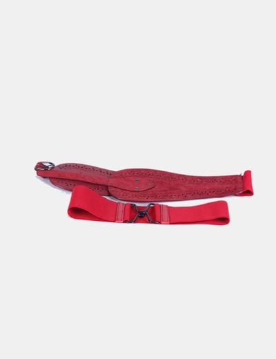 Conjunto cinturones rojos elásticos NoName