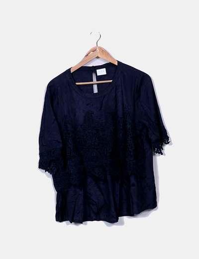 Blusa azul marino combinado