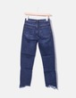 Jeans bleu foncé effilochés Topshop