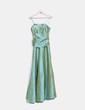 Maxi vestido verde detalle abalorios NoName