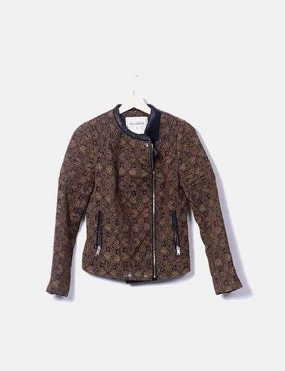 Cazadora tweed combinada