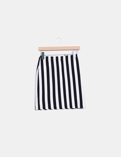 Mini jupe noire à rayures Glamorous