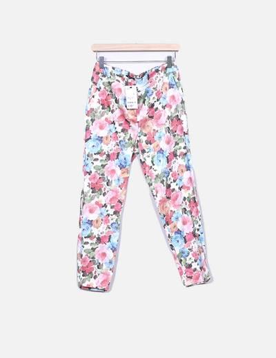 Calças estampado floral Suiteblanco