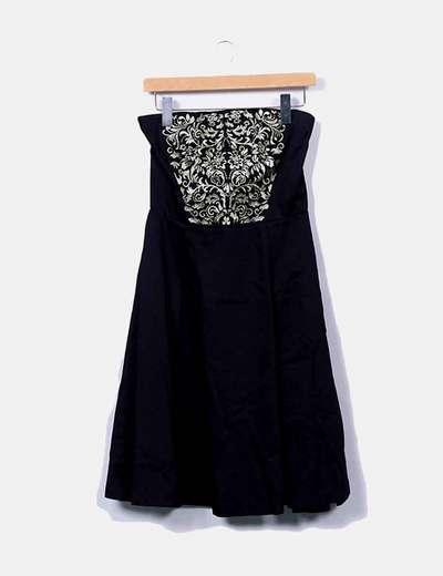 Robe noire en or midi Suiteblanco