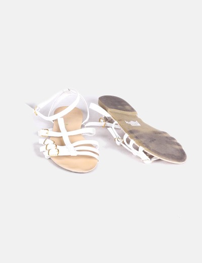 Sandalias cangrejeras blancas
