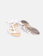 Sandalias cangrejeras blancas Suiteblanco
