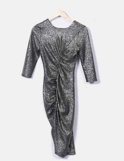 Robe drapée froncé Zara