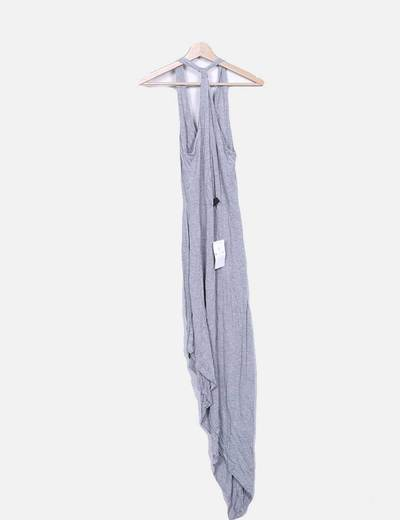 Vestido gris asimetrico
