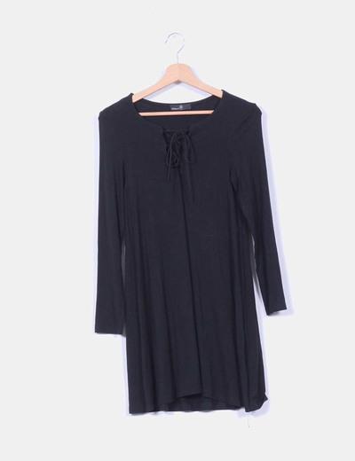 Vestido negro manga larga  Clp