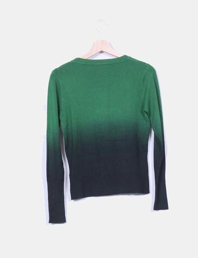 Tricot verde print