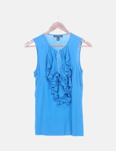 Camiseta azul con volantes
