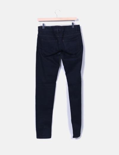 Jeans denim super skinny negro