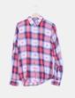 Camisa cuadros rosas, blancos y azules Pull & Bear
