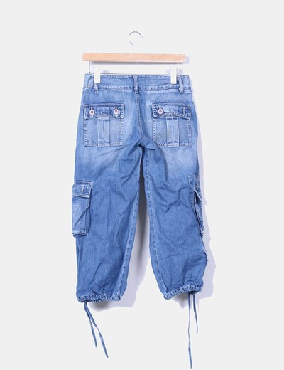 Jeans pirata con bolsillos