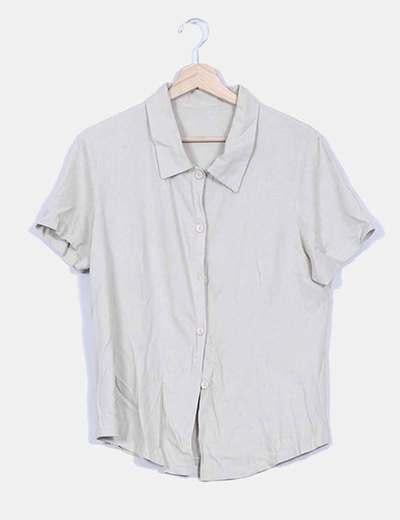 Camisa beige manga corta NoName