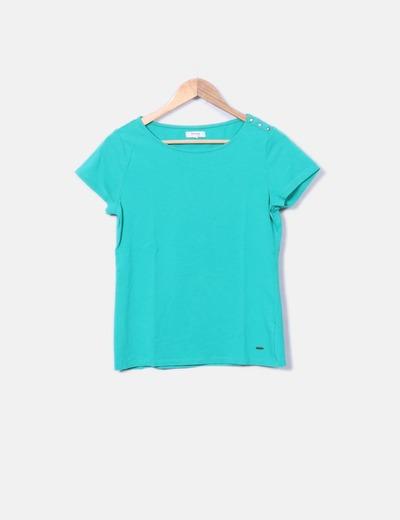 Camiseta verde de manga corta Fórmula Joven