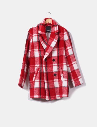 Abrigo de cuadros rojo