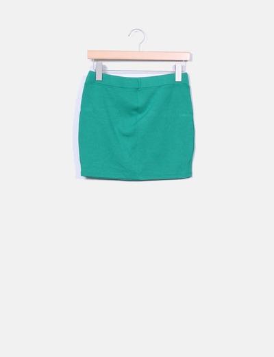 Mini falda verde elástica Suiteblanco