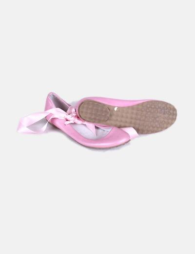 Bailarina rosa con lazos rosas